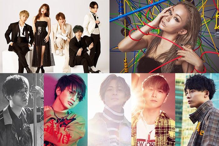 (上段左から)AAA、倖田來未(下段)Da-iCE(提供写真)