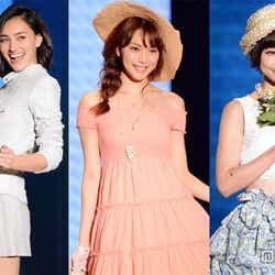 「東京ランウェイ2014 SPRING/SUMMER」に出演した長谷川潤、蛯原友里、篠田麻里子