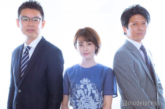 森昭一郎アナウンサー、宮司愛海アナウンサー、倉田大誠アナウンサー (C)モデルプレス
