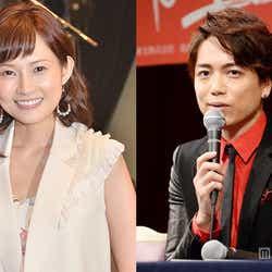 安倍なつみ(左)、第1子出産 夫・山崎育三郎と連名で発表(C)モデルプレス