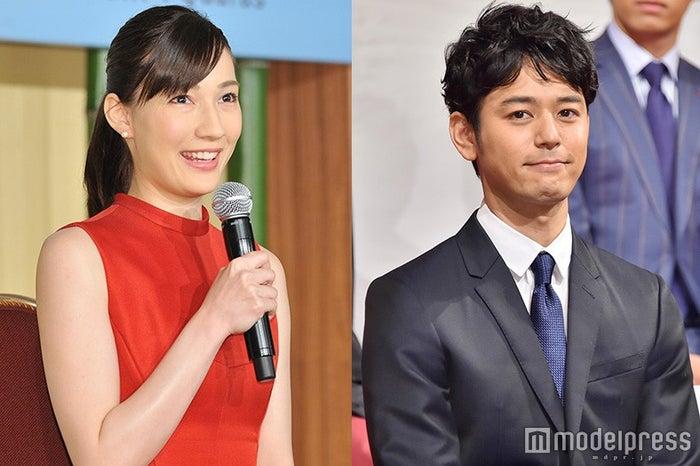 結婚を発表した(左から)マイコ&妻夫木聡(C)モデルプレス