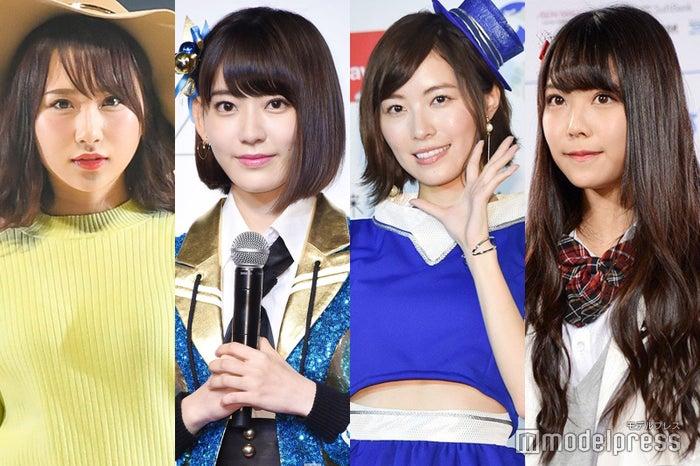 PRODUCE48」に参加している高橋朱里、宮脇咲良、松井珠理奈、白間美瑠 (C)モデルプレス