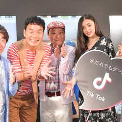 (左から)寺門ジモン、肥後克広、上島竜兵エリカ、マリナ (C)モデルプレス