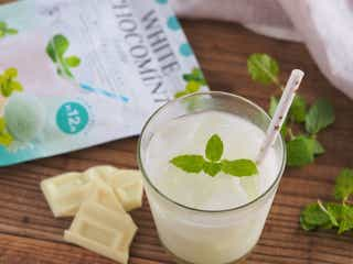 牛乳にサッと溶かすだけ。カルディ「チョコミントラテ」の真っ白さにびっくり