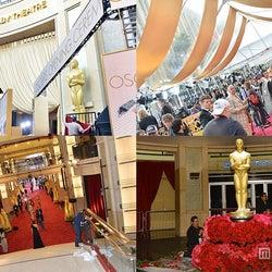 「アカデミー賞」レッドカーペット会場リハ開始、華やかに世界各国のメディアレポーターが集結