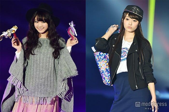 「GirlsAward 2015 A/W」に出演した、夢みるアドレセンスの志田友美(左)&山田朱莉【モデルプレス】