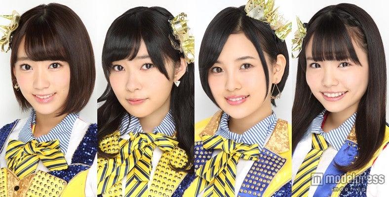 HKT48が躍進/左より:宮脇咲良、指原莉乃、兒玉遥、渕上舞(C)AKS【モデルプレス】