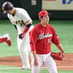 広島・九里は1球に泣く「思い切り振られるカウントにしてしまった」