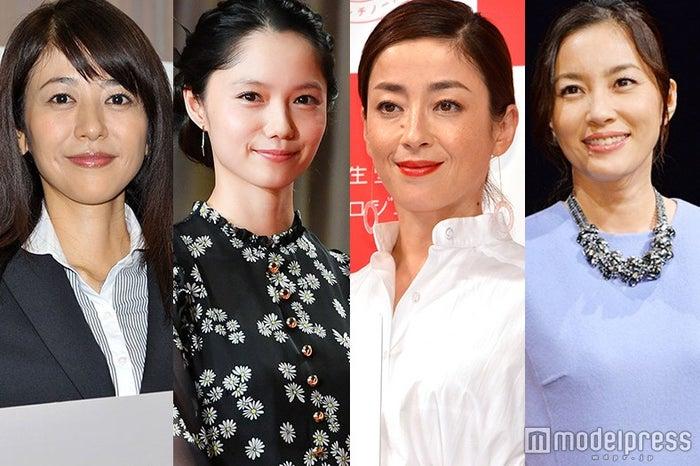 (左から)白石美帆、宮崎あおい、宮沢りえ、瀬戸朝香 (C)モデルプレス