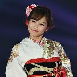 佐野ひなこの上品な着物姿に会場うっとり 初出演で華やかオーラ放つ<GirlsAward 2015 A/W>