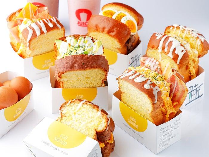 スクラブルエッグトースト全メニュー/画像提供:YOPU
