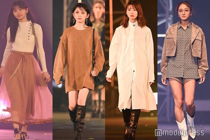 (左から)齋藤飛鳥、久間田琳加、高本彩花、みちょぱ (C)モデルプレス