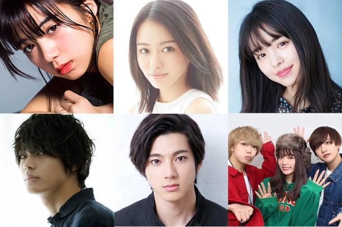 左上から時計回りに:池田エライザ、山本舞香、横田真悠、さんこいち、山田裕貴、神尾楓珠(提供画像)