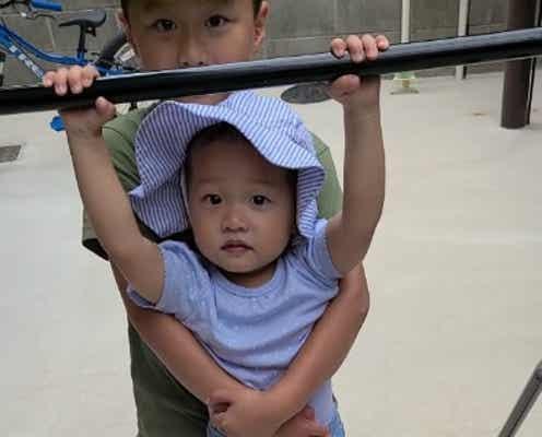 小原正子、娘をサポートする長男の姿「良い兄妹」「ほっこり」の声