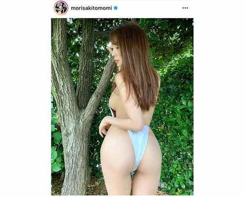 森咲智美、ハイレグで魅せる美尻バックショットが美しすぎる!