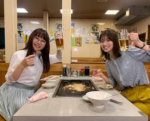 ドラマ『ごほうびごはん』桜井日奈子・岡崎紗絵が満面笑みなもんじゃオフショット公開