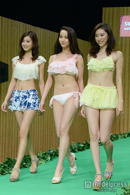 水着ファッションショーの様子