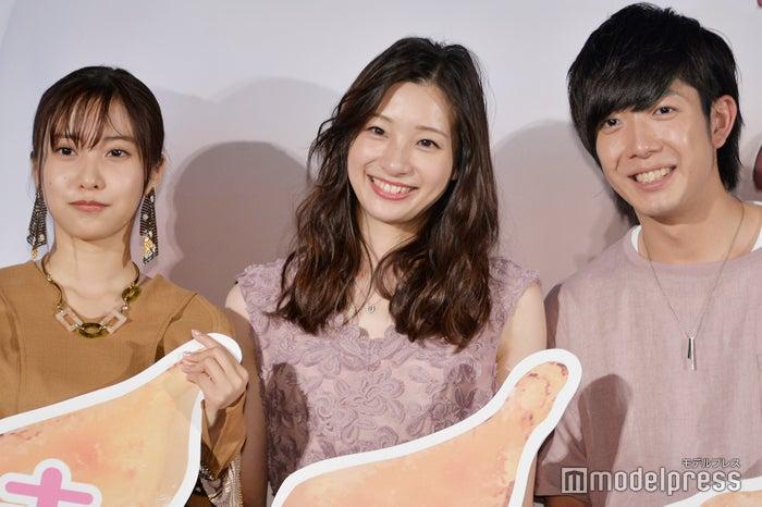 (左から)佐野ひなこ、足立梨花、田村侑久 (C)モデルプレス