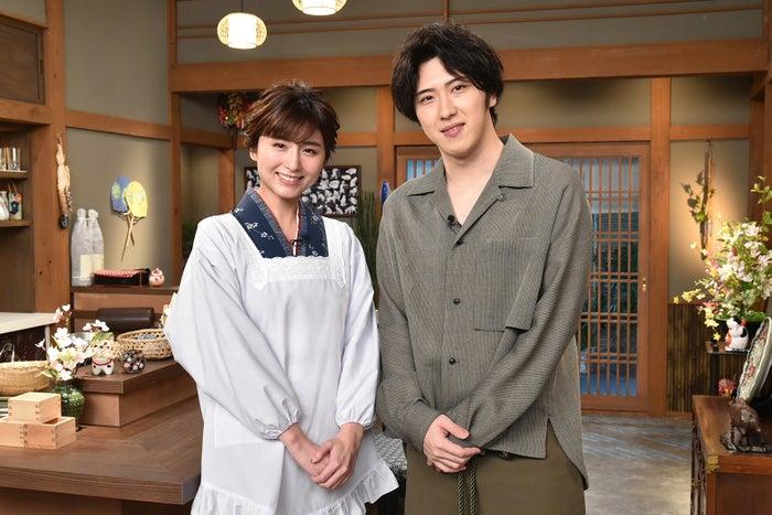 (左から)宇賀なつみ、尾上松也(C)テレビ朝日