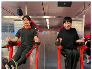和田アキ子&妻夫木聡、仲良し筋トレ2ショットに「レアすぎる」「豪華」と反響
