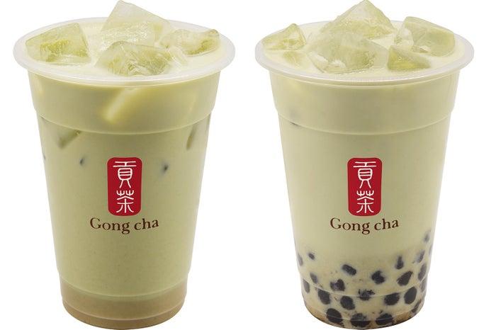 玄米茶 ミルクティー/タピオカ(+¥70)/画像提供:ゴンチャ ジャパン