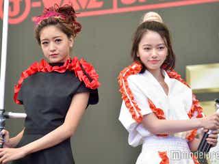 みちょぱ&山本舞香「スター・ウォーズ」風特注ドレスでランウェイ 豪華な仕掛けに驚き