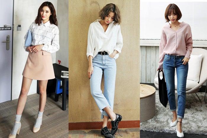この春GETしておきたい!「とろみシャツ」コーデ3選/画像提供:DHOLIC