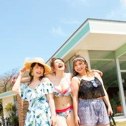 ぽっちゃりモデル小川みこ、安藤うぃ、もも、水着姿でマシュマロボディを披露「la farfa」
