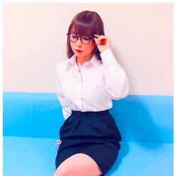 """モデルプレス - 中川翔子""""色気ダダ漏れ""""OL風ショットに「大人の魅力満載」「かわゆす」の声"""