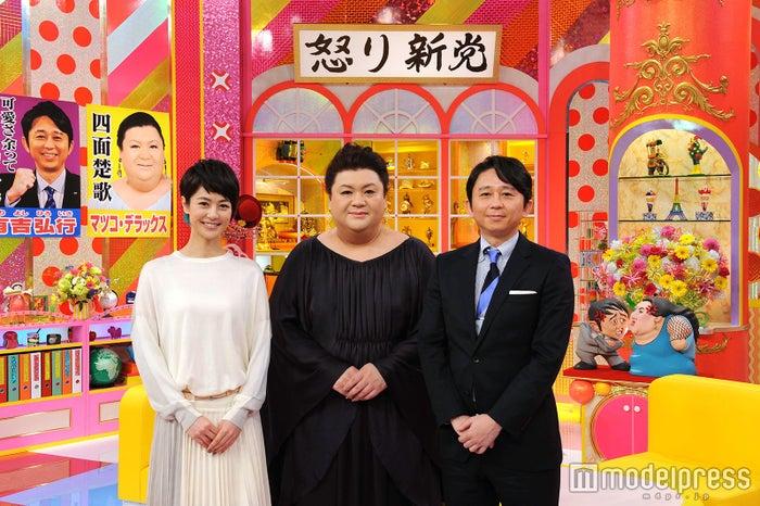 夏目三久(左端)が「マツコ&有吉の怒り新党」を卒業(画像提供:テレビ朝日)
