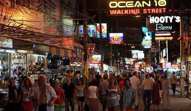 Pattaya Walking Street by Roman Lashkin