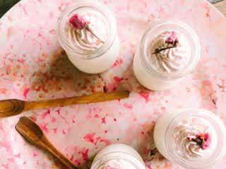 味覚から春を楽しんで!「桜といちごのブラマンジェ」の簡単レシピ【柏原歩のトレンドレシピ】