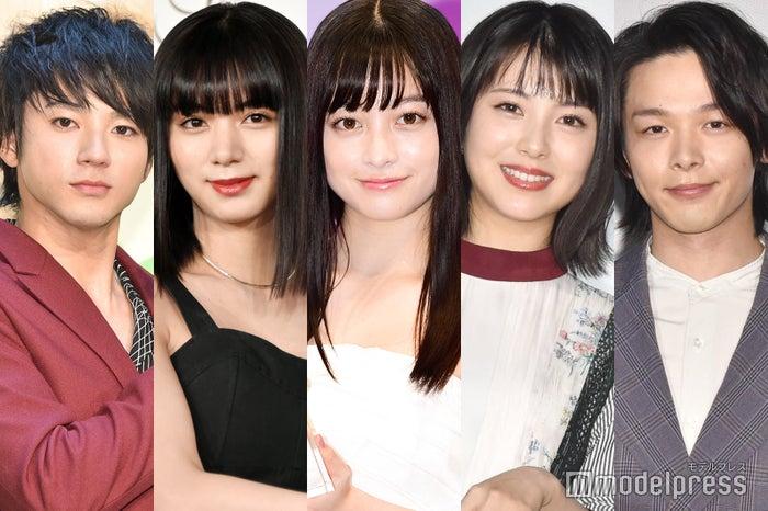 (左から)山田裕貴、池田エライザ、橋本環奈、浜辺美波、中村倫也 (C)モデルプレス