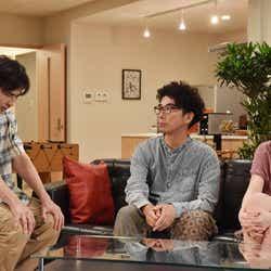 袴田吉彦、片桐仁、筧美和子/「あなたの番です」第16話より(C)日本テレビ