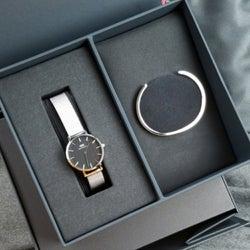 クリスマスプレゼントに! 「Daniel Wellington(ダニエルウェリントン)」の腕時計&バングルのギフトセット♪