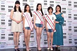 (左から)新川優愛、田村友乃さん、佐藤梨紗子さん、吉村梓穂さん、平祐奈 (C)モデルプレス