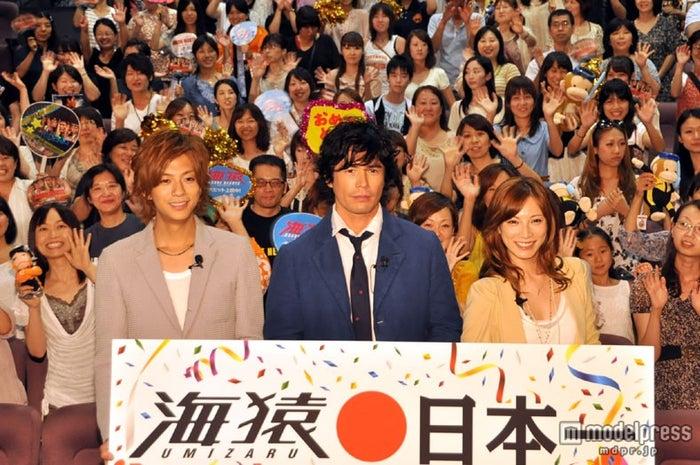 「海猿」ファン感謝イベントに登場した(左から)三浦翔平、伊藤英明、加藤あい (C)モデルプレス
