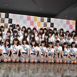 「第3回AKB48グループドラフト会議」指名された候補生とキャプテンら ※時間の都合で不在メンバーも多数(C)モデルプレス
