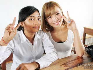 現役慶大生モデル、カンボジアで日本文化を伝える ヘアーメイクも紹介