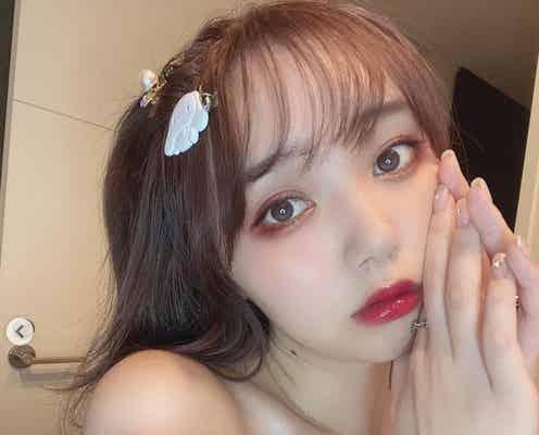"""江野沢愛美""""地雷メイク""""に絶賛の声「可愛すぎない?」「天使」"""