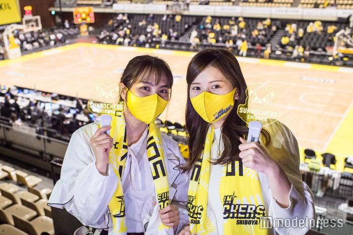 渋谷でスポーツ観戦ができるって本当?まるでショーのようなバスケ観戦を体験してみた/(左から)山口厚子さん、今井美桜さん (C)モデルプレス