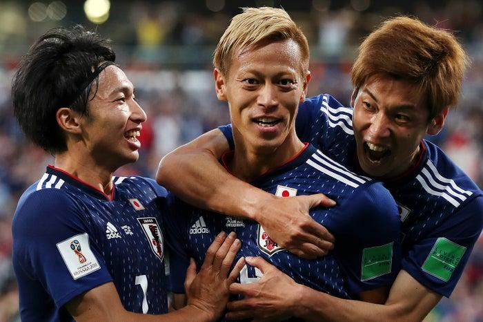中央:本田圭佑(Photo by Getty Images)