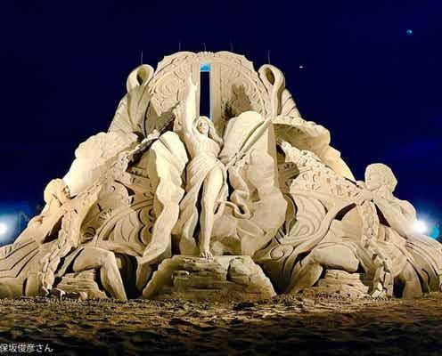 世界一の砂像アーティスト作品が凄すぎる 被災地で「心の復興」に尽力中