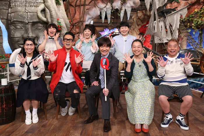 前列左から:イモトアヤコ、宮川大輔、内村光良、いとうあさこ、出川哲朗/後列左から:黒沢かずこ、村上知子、大島美幸(C)日本テレビ