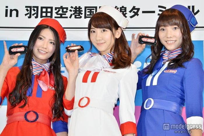 総選挙への意気込みを語ったフレンチ・キス(左から)倉持明日香、柏木由紀、高城亜樹