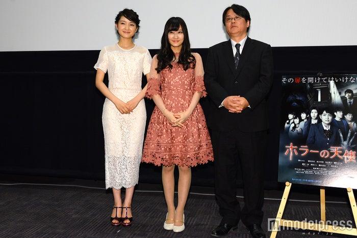 葵わかな、矢倉楓子、長江俊和監督(C)モデルプレス