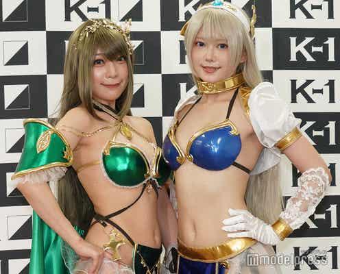 篠崎こころ&宮本彩希、ビキニアーマースタイルでK-1に登場