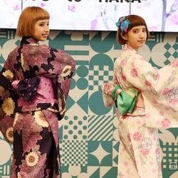 京都のはんなり双子モデル・えまえり、パリ「JAPAN EXPO」で日本アピール