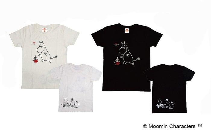 Tシャツ(ブラック・ホワイト)各880$(台湾ドル)※S、M、L(C)Moomin Characters