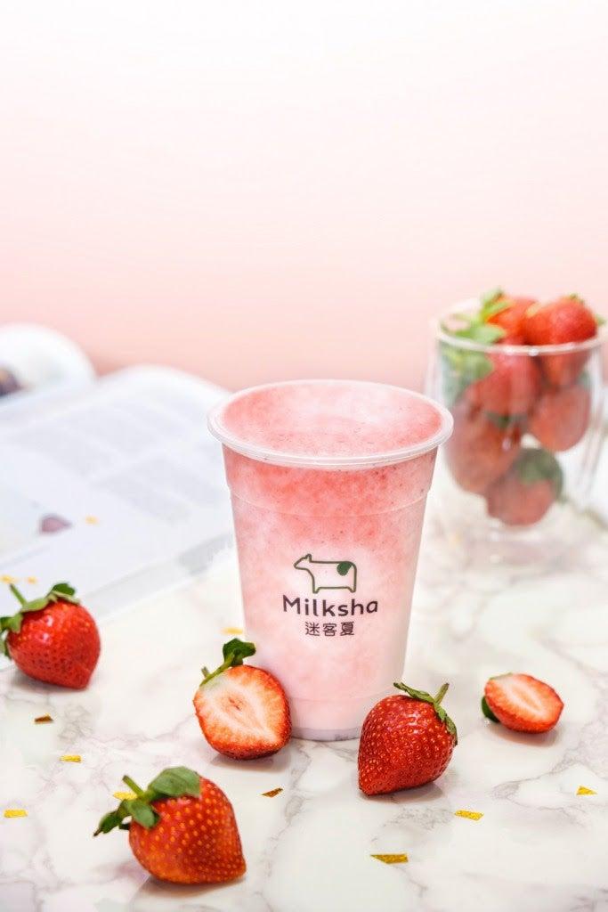 日本限定メニュー「フレッシュいちごミルク」/画像提供:MILKSHOP JAPAN